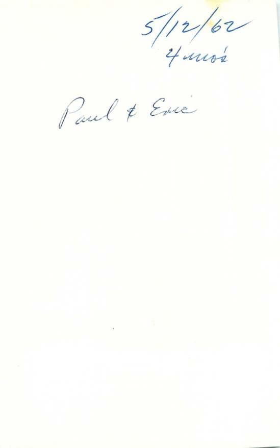 5/12/62 4 mo's Paul + Eric